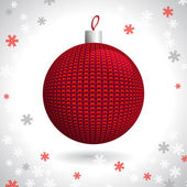 Knitted Christmas Ball — Stock Vector