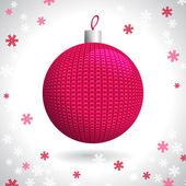 Knitted Christmas Ball — Stock Vector