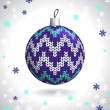 Knitted Christmas Ball — Image vectorielle