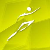 Runner Icon — Stock Vector