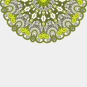 Vector Round Decorative Design Element — ストックベクタ