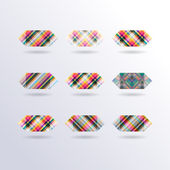 Vector Striped Squares — Stock Vector