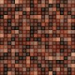 Square Pixel Brown Mosaic Background — Stock Vector
