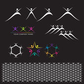 Set of Abstract Elements — Stock Vector