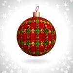 Knitted Christmas Ball — Stock Vector #36290489