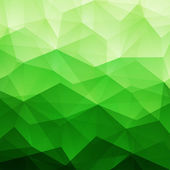 Abstract Green Triangle Background — Stock Vector