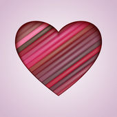 Vector Heart Made from Color Stripes — Stock Vector