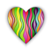 Vector Heart Made from Color Stripes — Wektor stockowy
