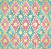 Seamless Colorful Retro Pattern Background — Stock Vector