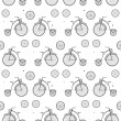Stock Vector: Vintage Bicycle Seamless Vector Background