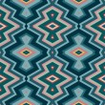 Color Abstract Retro Zigzag Vector Background — Stock Vector #44546125