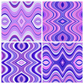 Set of Vector Seamless Abstract Wavy Backgrounds — Vecteur