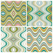 Set of Vector Seamless Abstract Wavy Backgrounds — Stock Vector