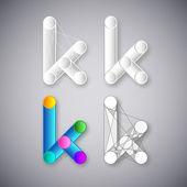 Abstract vector kombination aus buchstabe k — Stockvektor