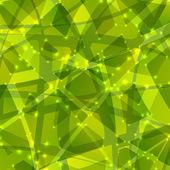 Soyut yeşil üçgen arka plan — Stok Vektör