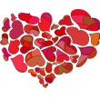 Abstract red heart — Stock Vector #8864351