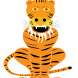 Vector tiger cartoon — Stock Vector