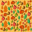 Pattern seamless with autumn leaves - Stock Vector