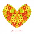 Royalty-Free Stock Vectorielle: Floral isolated valentine heart, background for text