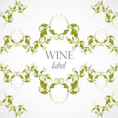 Vector floral seamless pattern, wine label — Stock Vector