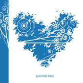 Blue valentine's heart, background for text — Stockvektor