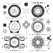 Vintage labels vector set and different calligraphic design elem - Stock Vector