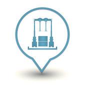 Meccanismo di sollevamento di carichi pesanti, icona web — Vettoriale Stock