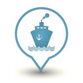 Transportation boat, vector web icon — Stock Vector