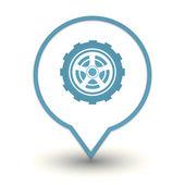 Wheel web icon — Stock Vector