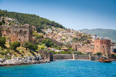 Old fortress and sea in Alanya, Turkey — Stock Photo