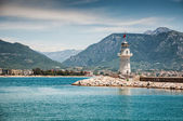 Lighthouse by the sea in Alanya, Turkey — Stock Photo