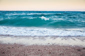 Big waves on the seacoast of the red sea — Stock Photo