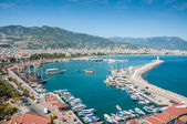 View of the sea and the port Alanya, Turkey — Stock Photo