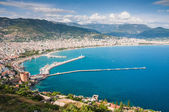 View of the sea and the town Alanya, Turkey — Stock Photo