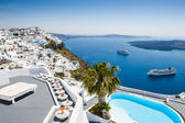 White architecture on Santorini island, Greece — Stock fotografie