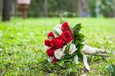 Wedding bouquet of the bride — Stock Photo