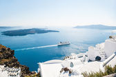 White architecture on Santorini island, Greece — Foto Stock