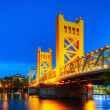 Golden Gates drawbridge in Sacramento — Stock Photo