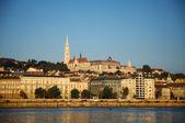 布达佩斯从塞切尼链桥看到的概述 — 图库照片