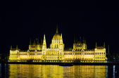 Hungarian Houses of Parliament in Budapest — Stock Photo