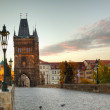 Charles bridge in Prague early in the morning — Stock Photo #15429521