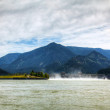 Stock Photo: Spillway of Bonneville Dam
