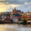 Overview of old Prague from Charles bridge side — Stock Photo #16756067