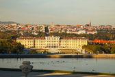 夕暮れ時ウィーンのシェーンブルン宮殿 — ストック写真