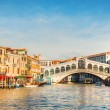 Rialto Bridge (Ponte Di Rialto) in Venice, Italy - Stock Photo