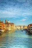 Vista grande canal de veneza, itália — Foto Stock