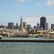 Downtown of San Francisco as seen from the bay - Foto de Stock