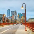 Downtown Minneapolis, Minnesota at night time - Foto de Stock