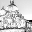 Sketch of Basilica Di Santa Maria della Salute - Stock Photo