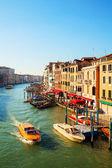 Visa till canal grande i venedig, italien — Stockfoto